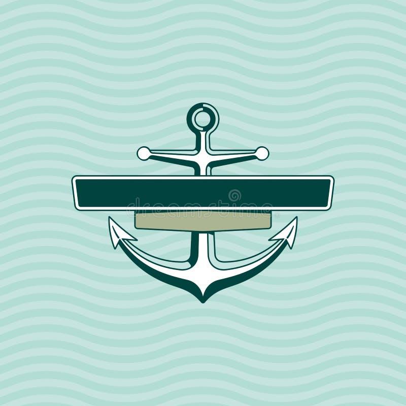 Âncora com quadro Logotipo - ilustração ilustração royalty free