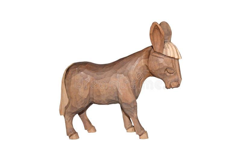 Âne en bois de Brown illustration libre de droits