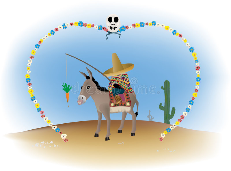 Âne mexicain illustration stock