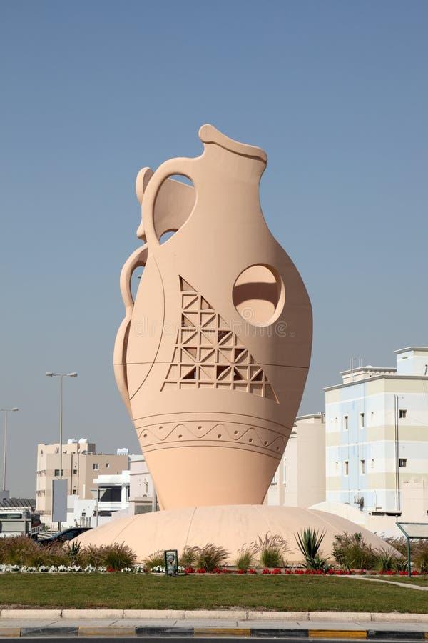 Ânfora em uma vila. Barém, Médio Oriente imagem de stock royalty free
