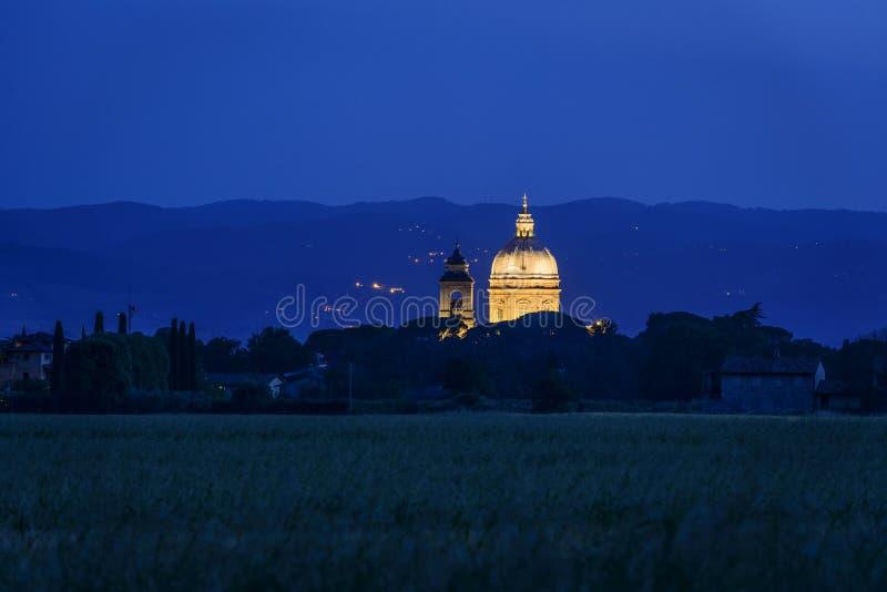 Ângeluss iluminados do degli de Santa Maria dos di da basílica imagem de stock royalty free