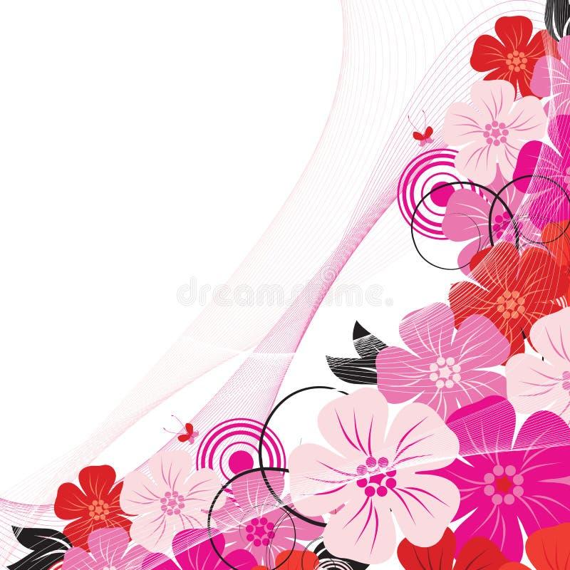 Ângulo da flor ilustração do vetor