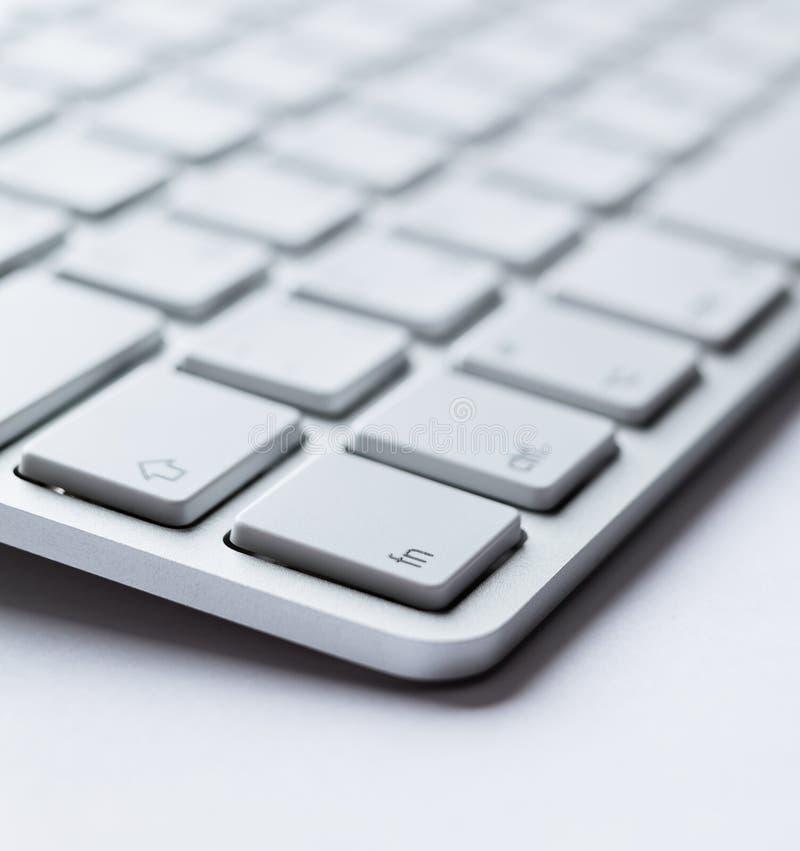 Ângulo do teclado leve fotos de stock royalty free