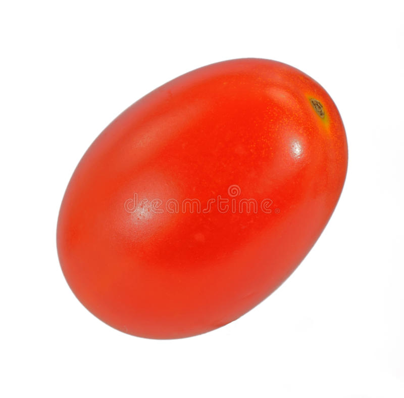 Ângulo do tomate da uva fotografia de stock