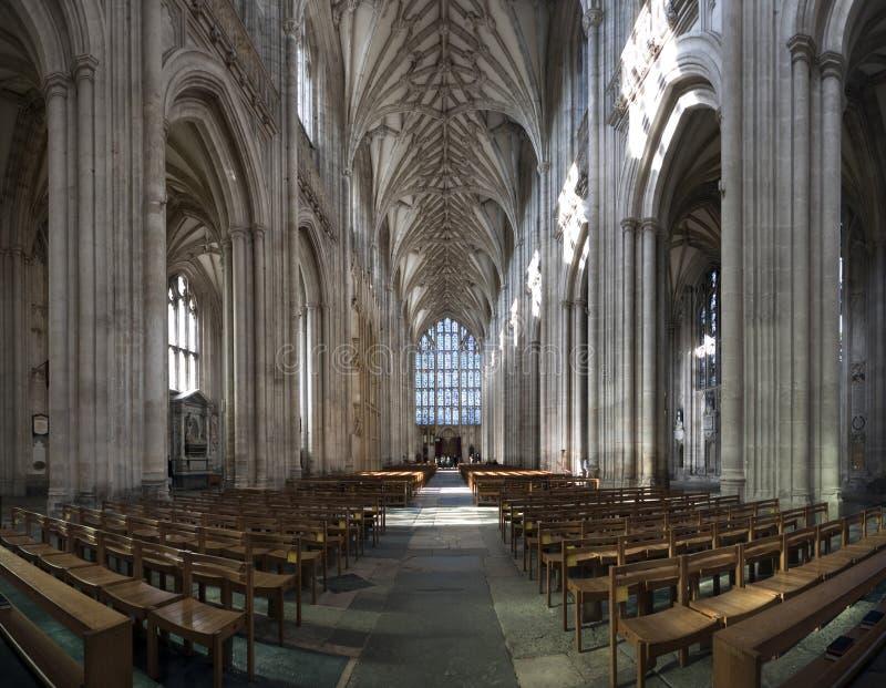 Ângulo largo da catedral fotos de stock