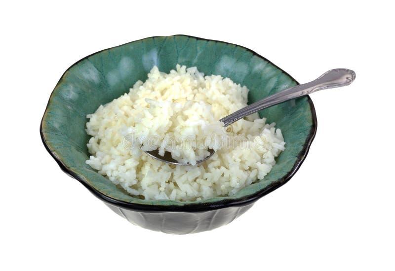 Ângulo minúsculo da colher da bacia de arroz