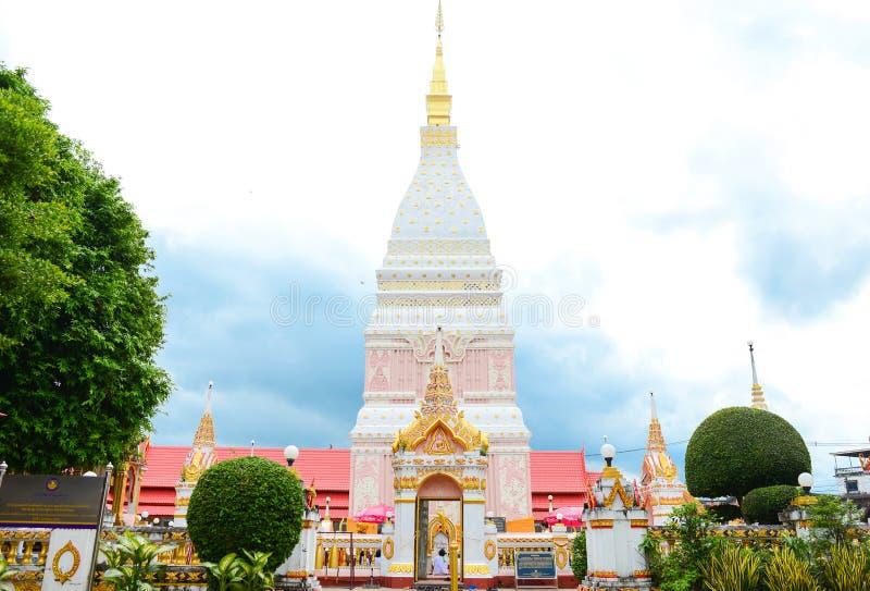 """Wat Phrathat Renu Nakhon"" Temple, royalty free stock images"