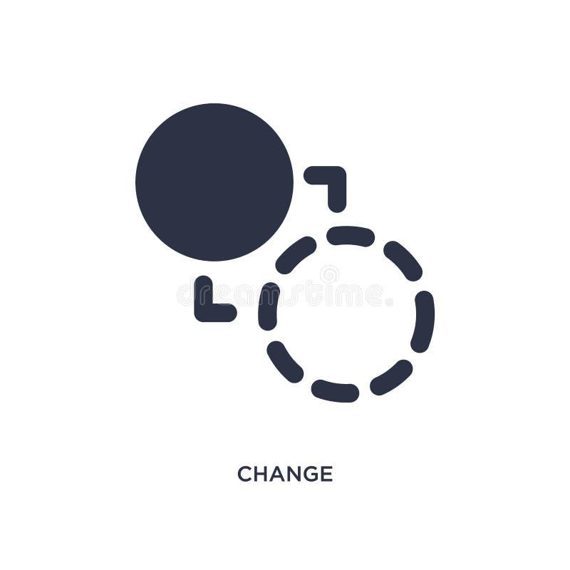 Änderungsikone auf weißem Hintergrund Einfache Elementillustration vom Geometriekonzept stock abbildung