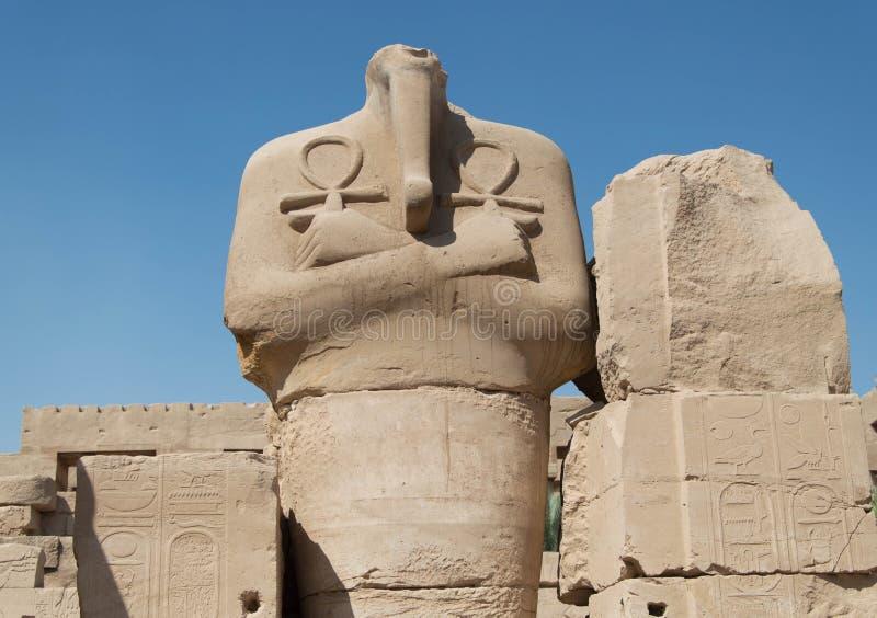 ÅšwiÄ… tynia Karnak Luxor, Egipt royalty-vrije stock foto