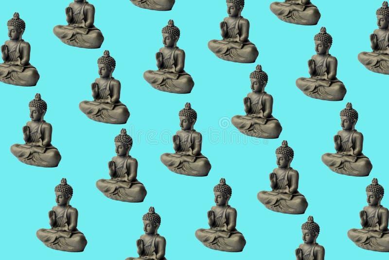 Ð ¡ oncentration umysł Joga pojęcie Lotosowa poza Zen medytacji tło Relaksuje minimalnego pojęcie ilustracja wektor