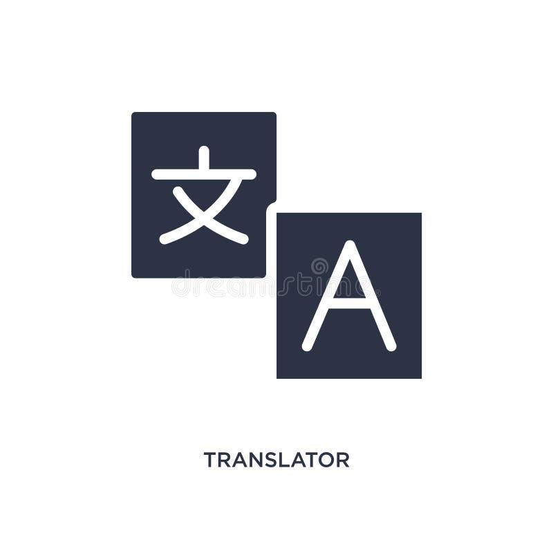 Übersetzerikone auf weißem Hintergrund Einfache Elementillustration vom Strategiekonzept vektor abbildung