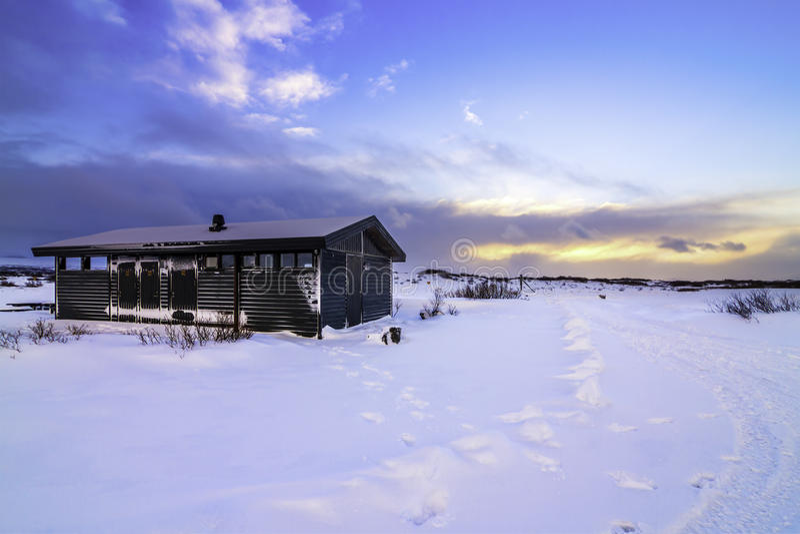 Þingvellir Nationaal die Park (soms als Pingvellir of Thingvellir wordt gespeld), IJsland stock foto's