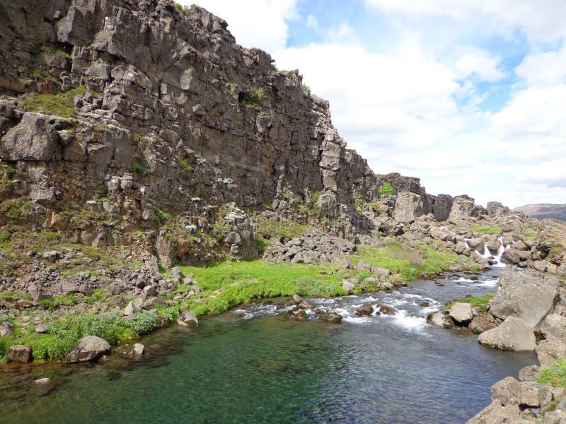 Þingvellir Nationaal Park, IJsland stock fotografie