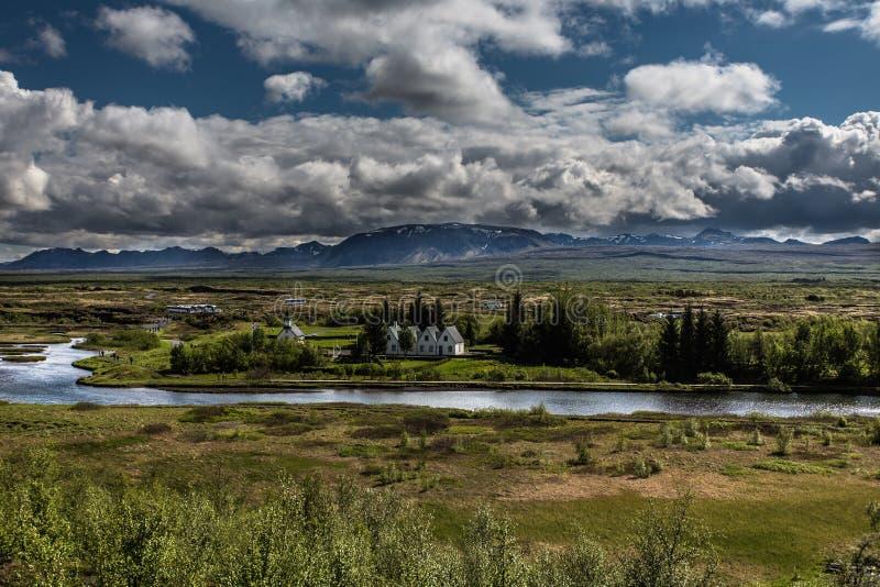 Þingvellir - un parco nazionale immagini stock libere da diritti