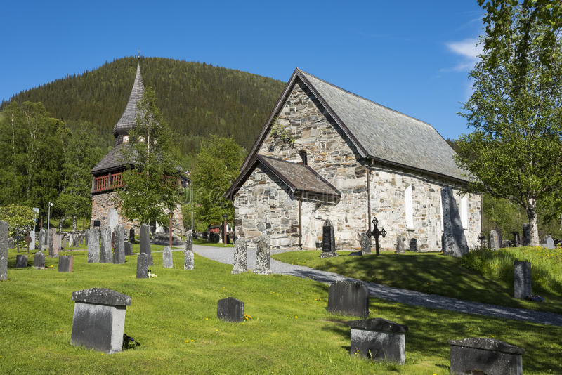 Ã… con riferimento alla chiesa medievale Svezia immagini stock