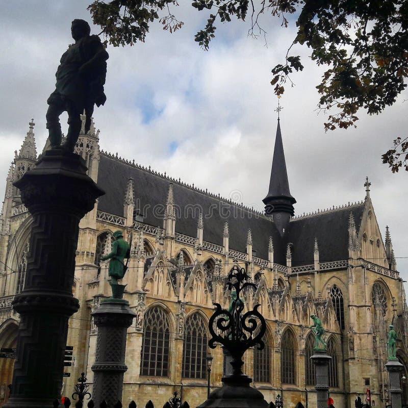 Ã ‰ glise Notre Dame du Sablon 图库摄影