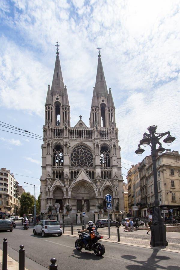 Ã ‰ glise Saint-Vincent de Paul, Marseille, Frankrijk stock afbeelding