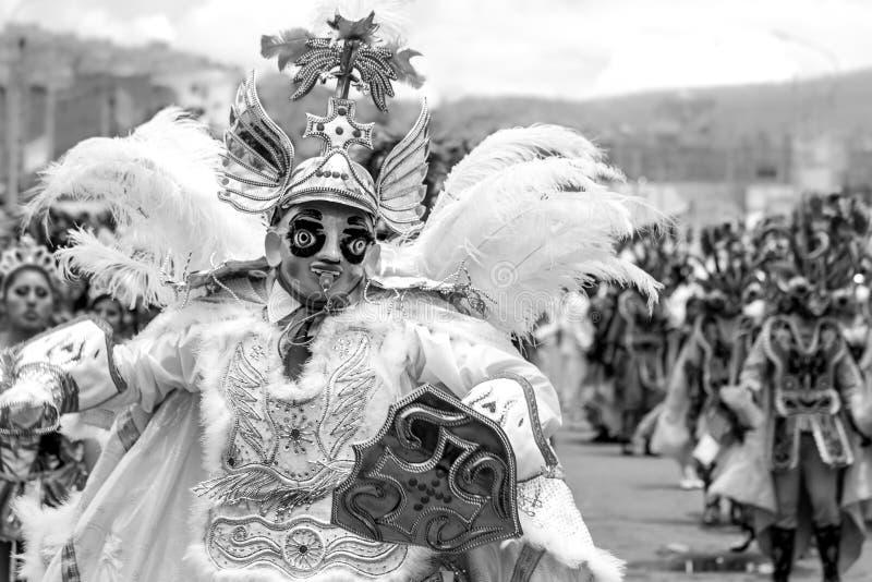 à  ngel de danza diablada秘鲁-玻利维亚 图库摄影