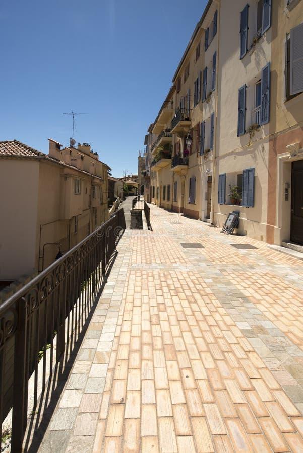 1ère Rue du Barri, Cannes, Francia foto de archivo libre de regalías