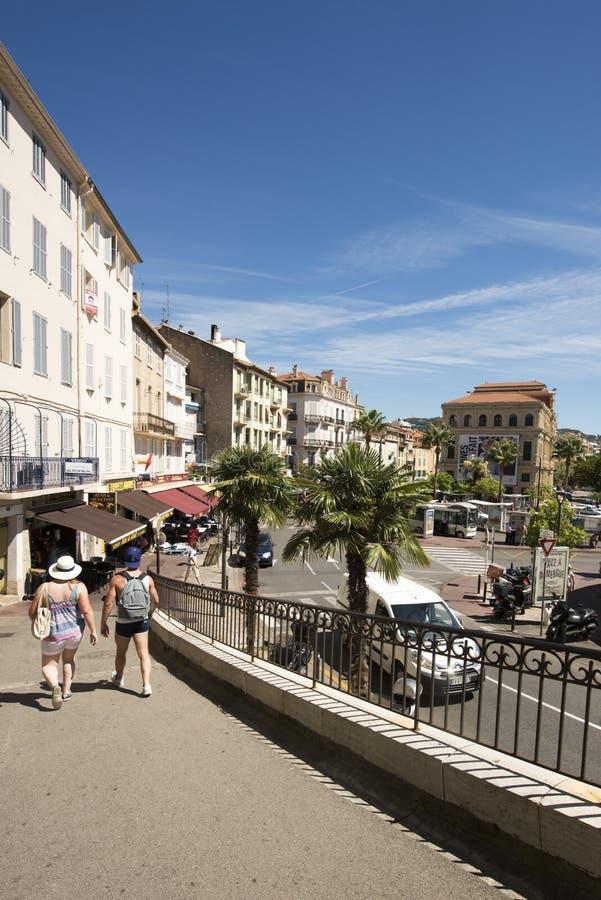 1ère Rue du Barri, Cannes, Francia fotografía de archivo