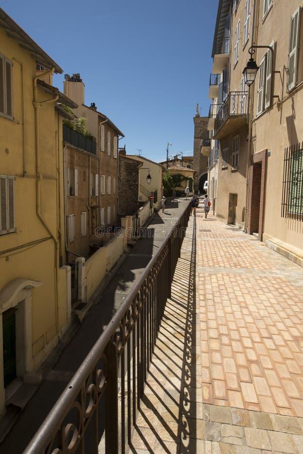 1ère Rue du Barri, Cannes, Francia fotografía de archivo libre de regalías