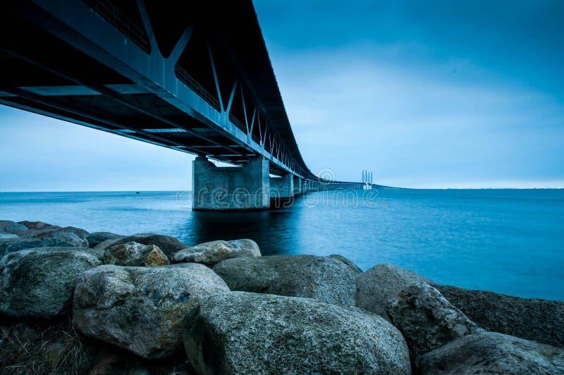 Ã-resundsbrige w południowym Szwecja zdjęcie royalty free
