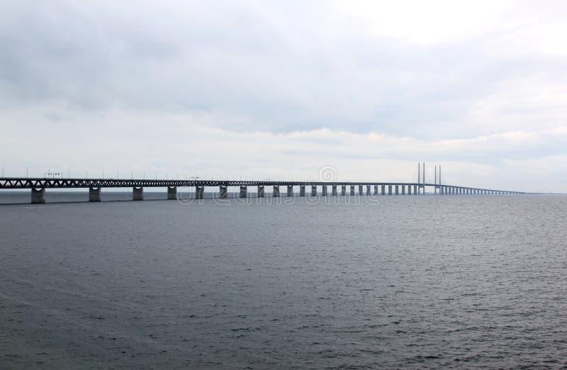 Ã-resundsbron fra la Svezia e la Danimarca, Svezia immagini stock libere da diritti