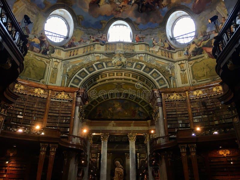 Ã -ã-sterreichische Nationalbibliothek stock afbeelding