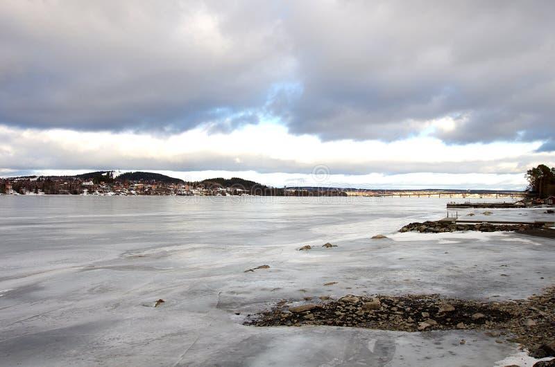 Ã-stersund在瑞典02 03 2019年 免版税库存图片