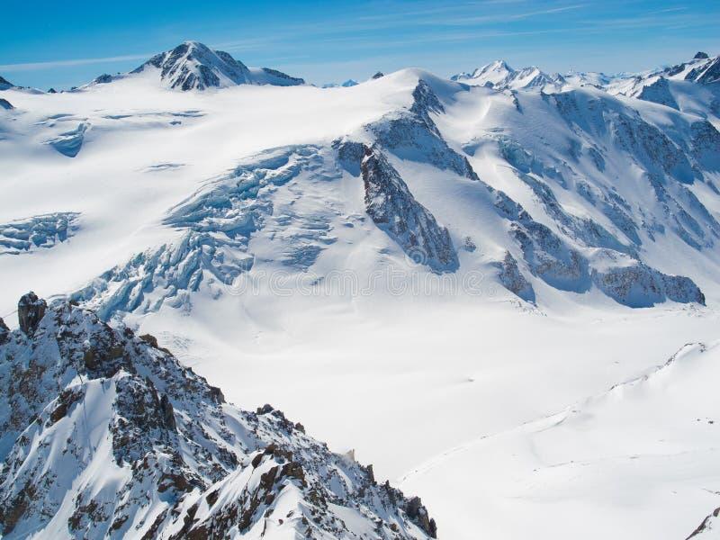 Ã -ã-tztaler Wildspitze, 3 768 meter - langste berg in Tirol, Oostenrijk stock foto
