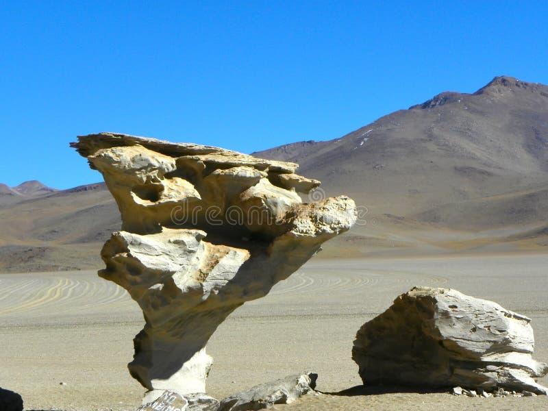 Ãrbol de Piedra, Altiplano, Bolivie photos stock