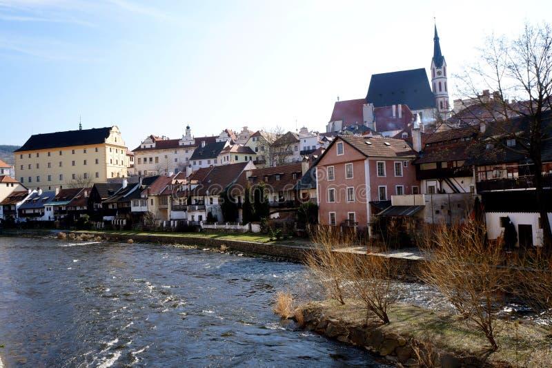 Český Krumlov. Translated sometimes to Czech Crumlaw, is a small city in the South Bohemian Region of the Czech Republic stock photos
