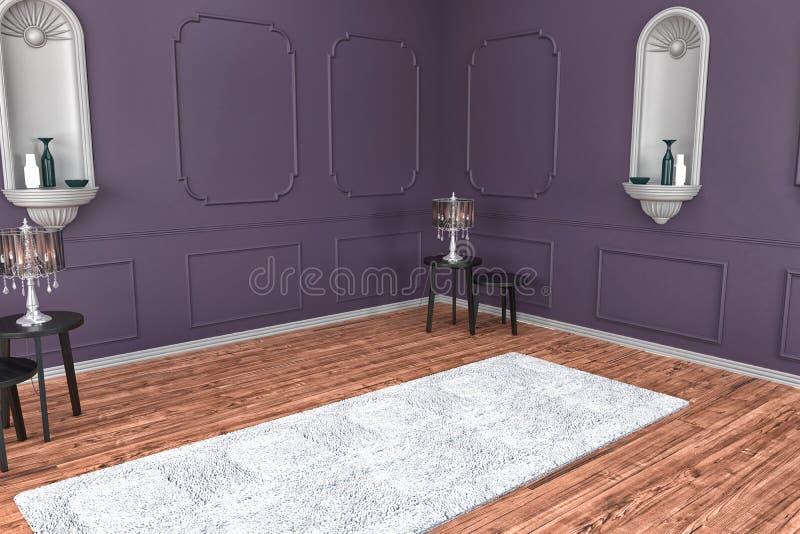 Camera da letto moderna bianca con il pavimento marrone for Mobilia spazio