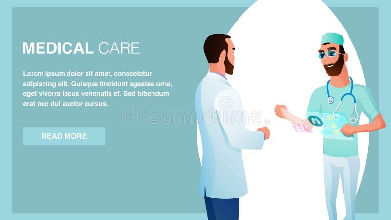 两微笑的医生Pharmacist Talk卫生保健 向量例证