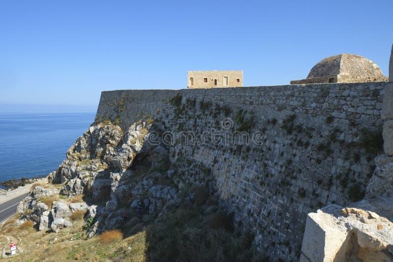 中世纪设防在罗希姆诺,克利特,希腊 免版税库存图片