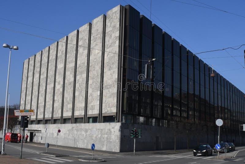 丹麦的国民银行在哥本哈根丹麦 库存图片
