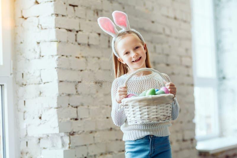 为复活节兔准备 库存图片