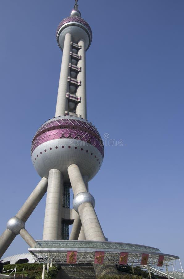 东方明珠电视塔上海 图库摄影