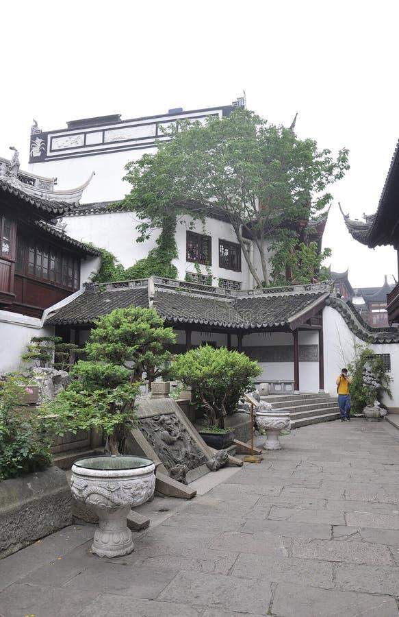 上海,第2可以:从著名Yu庭院庭院的美丽如画的风景上海街市的  图库摄影