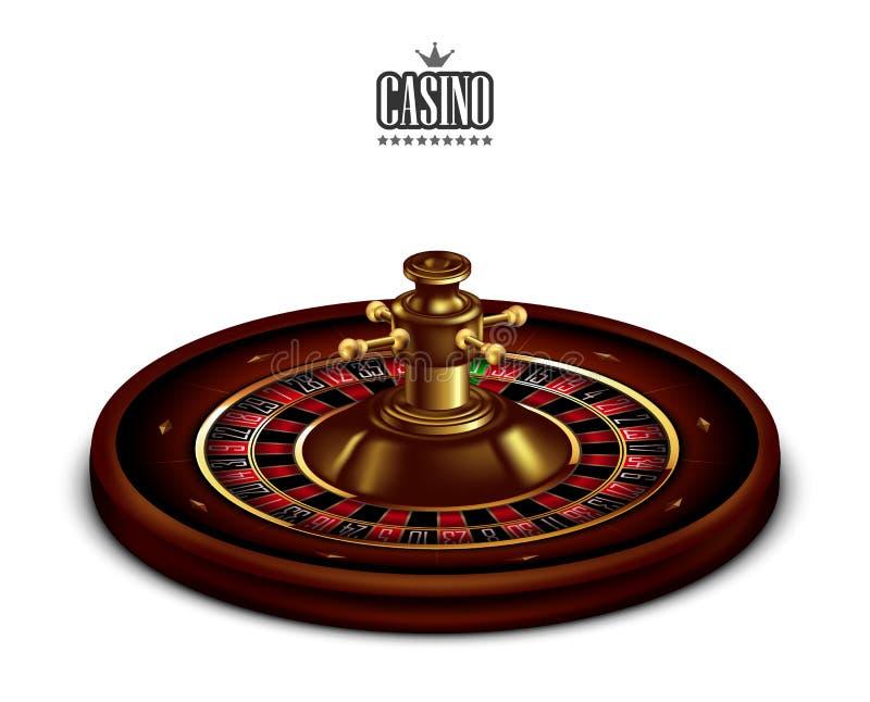 与卷尺的赌博娱乐场广告在白色背景 3d向量 高详细的现实例证 库存例证