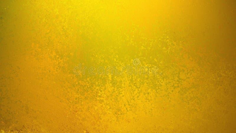 与微弱的难看的东西纹理的金背景在老葡萄酒设计,黄色背景 皇族释放例证