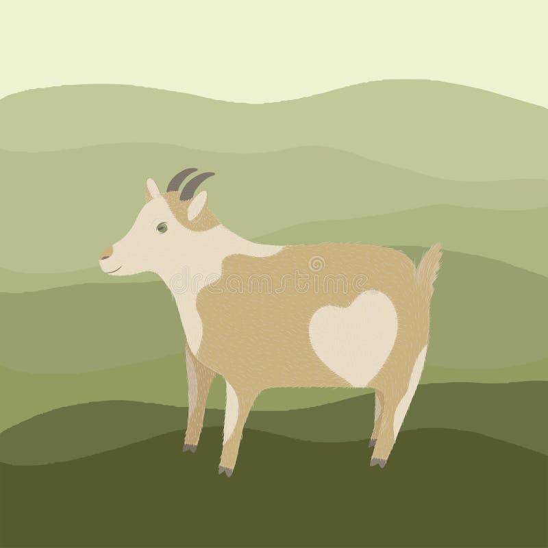 与心脏的山羊 皇族释放例证