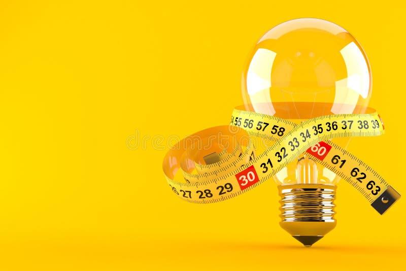 与厘米的电灯泡 库存例证