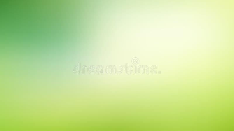 与光的抽象绿色和蓝色被弄脏的梯度滤网背景 时髦颜色 现代自然背景 生态概念为 库存例证