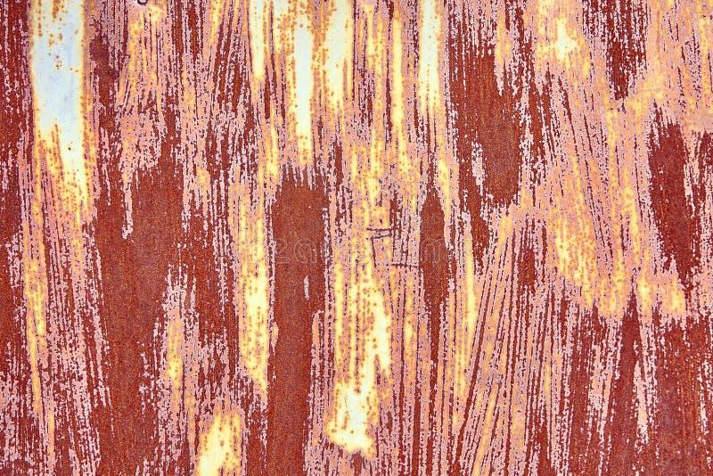 与概略的纹理多彩多姿的包括的老困厄的布朗赤土陶器铜生锈的背景 被弄脏的梯度 免版税库存图片