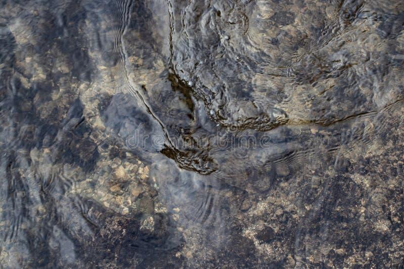 与波纹的水表面 有风的天气 背景或纹理 免版税库存图片