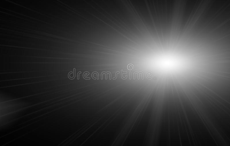 与星光火光的光线影响和闪耀与bokeh汇集 库存照片