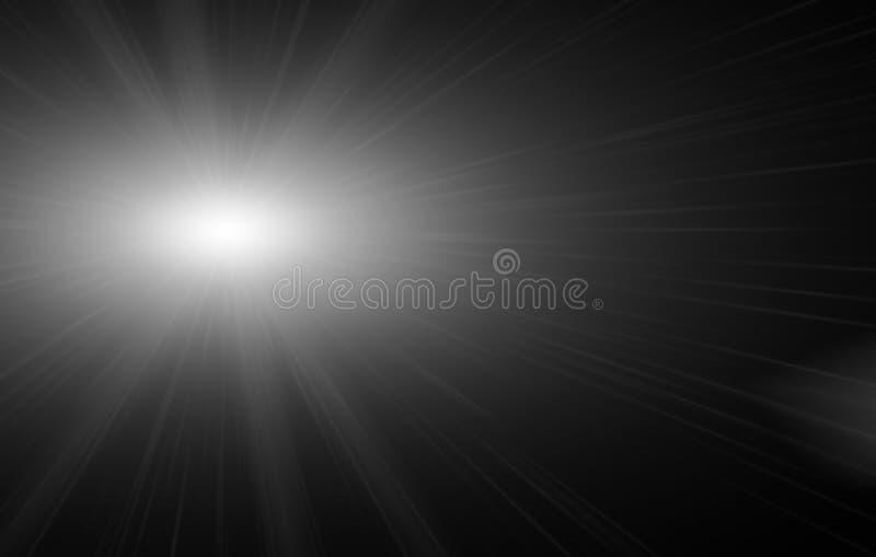 与星光火光的光线影响和闪耀与bokeh汇集 免版税图库摄影