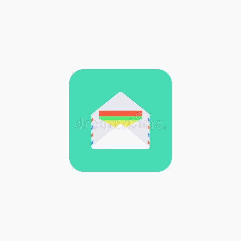 与文件的信封 也corel凹道例证向量 10 eps 库存例证