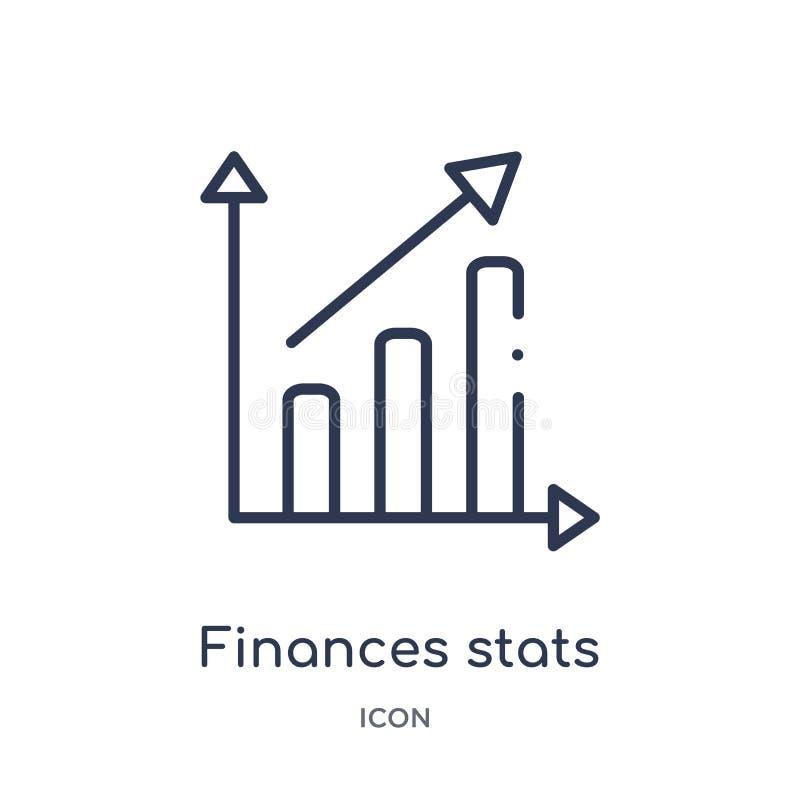 与箭头象的线性财务stats酒吧图表从企业概述汇集 稀薄的线财务stats禁止图表与 皇族释放例证